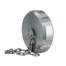 Sanitary Stainless Steel Blind Union Nut with Stainless Chain