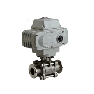 Stainless Steel Three-Piece Sanitary Tri-Clamp Ball Valve with ISO5211 Mounting Pad