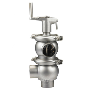Stainless Steel Hygienic Manual F type Flow Divert Valve