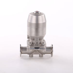 China HIGH QUALITY Stainless Steel Sanitary Clamp Manual Diaphragm Valve Pneumatic With SS304 Actuator