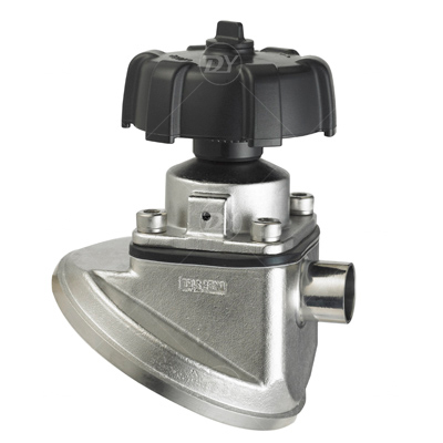 Sanitary SS Manual Tank Bottom Diaphragm Valve