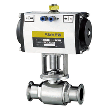 Stainless Steel Pneumatic Sanitary Ball Valve with Aluminum Actuator