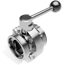 Sanitary Male Thread Threaded Manual Butterfly Valve